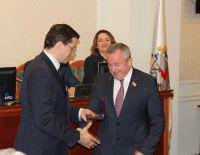 Награждение Генерального директора серебряной медалью