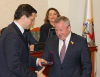 Awarding of the General Director with a silver medal
